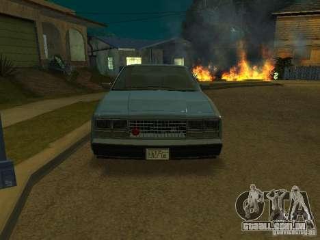 O táxi de romanos de GTA4 para GTA San Andreas vista direita