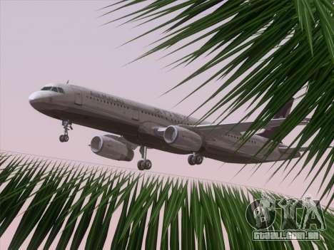 Airbus A321 Air Macau para GTA San Andreas interior