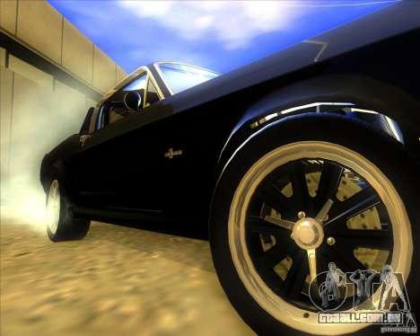 Shelby GT500 Eleanora clone para GTA San Andreas vista traseira