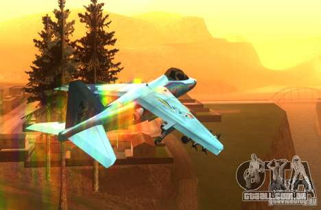 RainbowDash Hydra para GTA San Andreas vista traseira