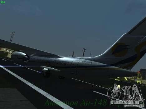 Antonov an-148 Aerosvit Ukrainian Airlines para GTA San Andreas vista traseira