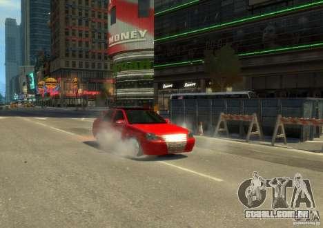 Hatchback de LADA priora para GTA 4 traseira esquerda vista