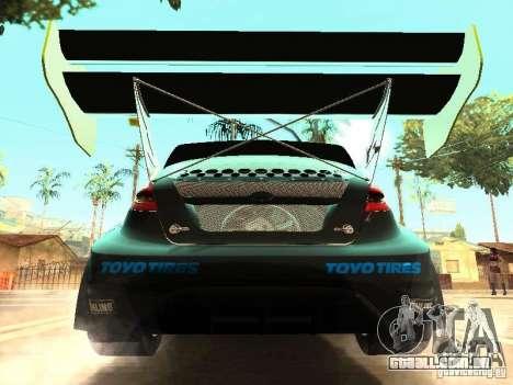 Ford Fiesta Rally Time para GTA San Andreas vista interior