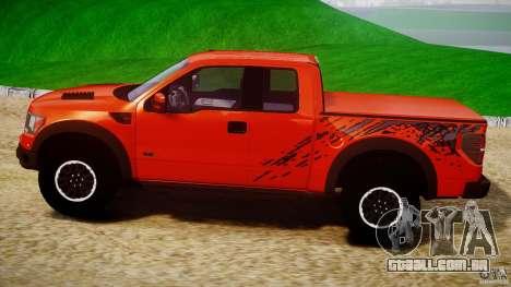 Ford F150 SVT Raptor 2011 para GTA 4 esquerda vista