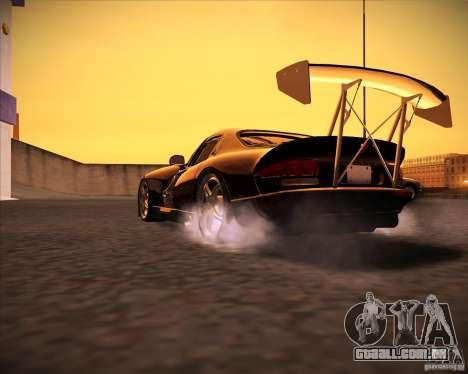 Dodge Viper TT para GTA San Andreas traseira esquerda vista
