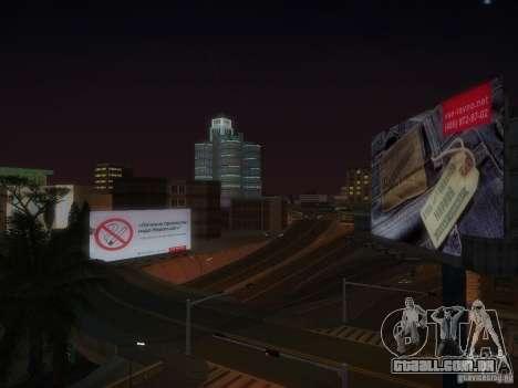 Novos cartazes em todo o estado para GTA San Andreas sexta tela