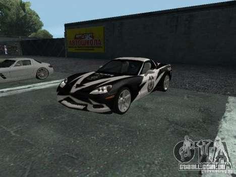 Chevrolet Corvette C6 para GTA San Andreas vista inferior