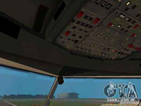 Airbus A330-300 Turkish Airlines para GTA San Andreas vista inferior