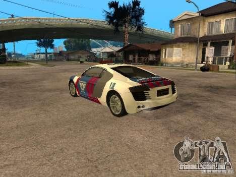 Audi R8 Police Indonesia para GTA San Andreas esquerda vista
