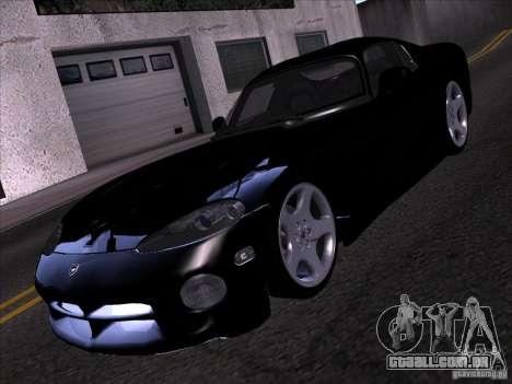Dodge Viper para GTA San Andreas vista inferior