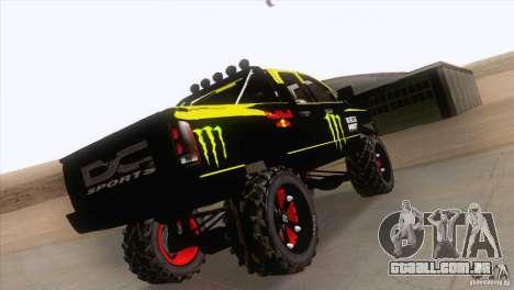 Dodge Ram 4x4 para vista lateral GTA San Andreas