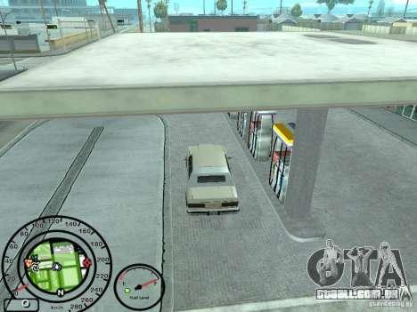 Velocímetro com indicador de combustível para GTA San Andreas por diante tela