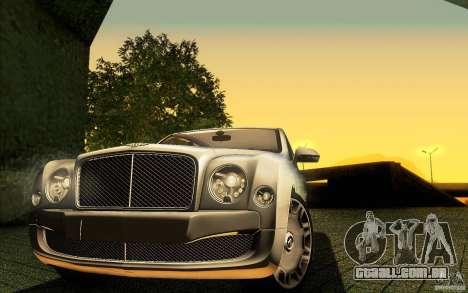 Bentley Mulsanne 2010 v1.0 para o motor de GTA San Andreas