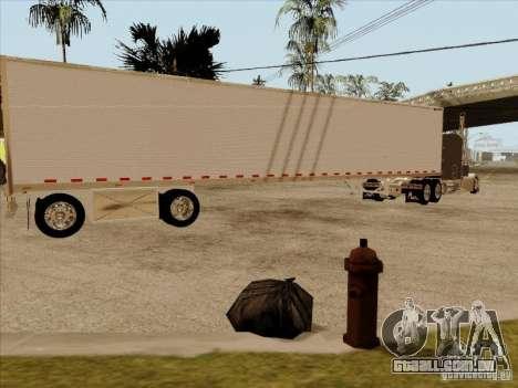 Reboque, Custom Peterbilt 379 para GTA San Andreas traseira esquerda vista