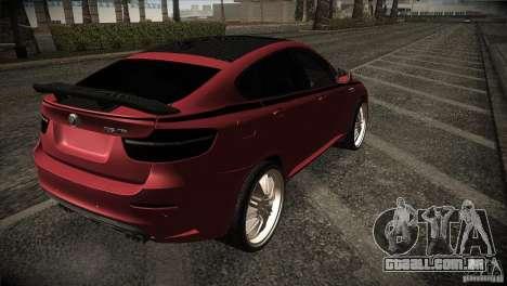 BMW X6 Lumma para GTA San Andreas vista traseira
