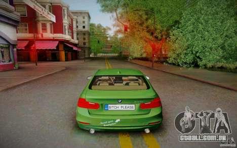 BMW 3 Series F30 Stanced 2012 para GTA San Andreas vista direita