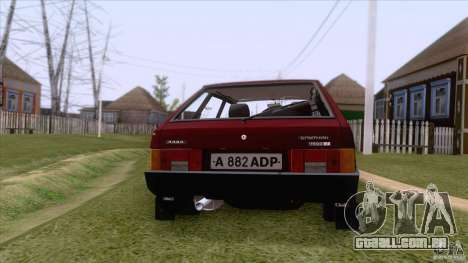 VAZ 2109 drenar Final para vista lateral GTA San Andreas