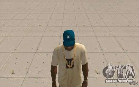 Tampa azul newyorkyankiys para GTA San Andreas segunda tela