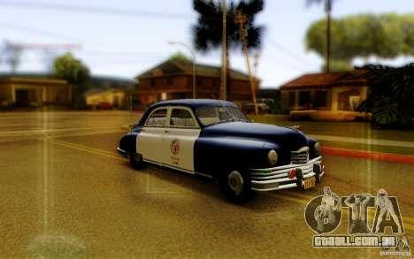 Packard Touring Police para GTA San Andreas traseira esquerda vista