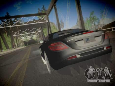 Mercedes-Benz SLR 722 Custom Edition para GTA San Andreas esquerda vista