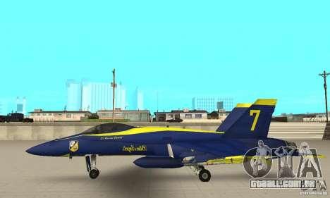 Blue Angels Mod (HQ) para GTA San Andreas esquerda vista