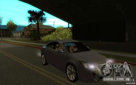 Opel Insignia 2011 para GTA San Andreas vista traseira