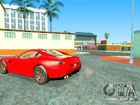 Ferrari 599 GTB para GTA San Andreas esquerda vista