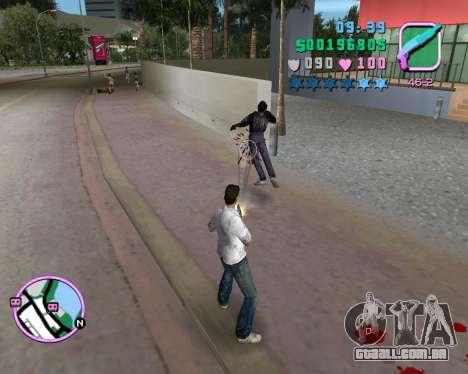 Camisa branca para GTA Vice City sexta tela