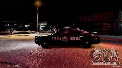 POLICIA FEDERAL MEXICO DODGE CHARGER ELS para GTA 4 vista inferior