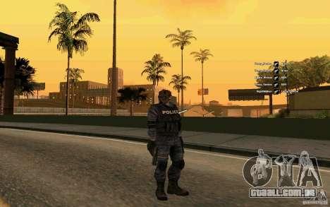 Pele SWAT para GTA San Andreas