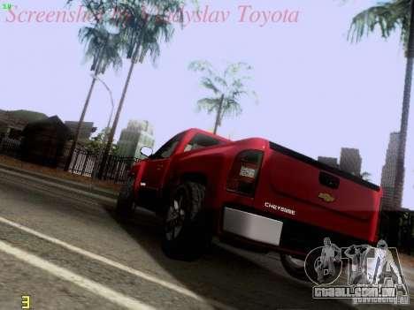 Chevrolet Cheyenne Single Cab para GTA San Andreas traseira esquerda vista