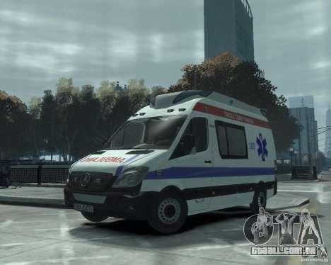 Mercedes-Benz Sprinter Azerbaijan Ambulance v0.1 para GTA 4