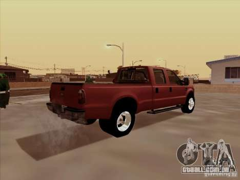 Ford  F350 Super Duty para GTA San Andreas vista traseira