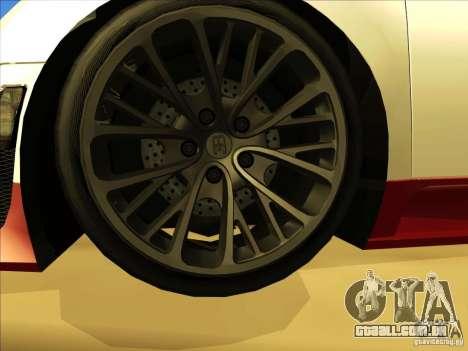Bugatti Veyron para GTA San Andreas vista superior