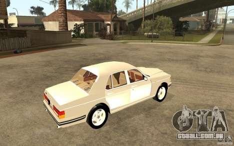 Bentley Turbo RT para GTA San Andreas vista direita