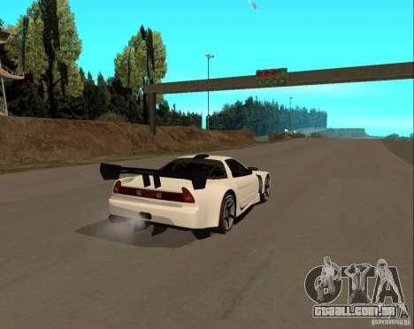 Acura NSX Sumiyaka para GTA San Andreas traseira esquerda vista