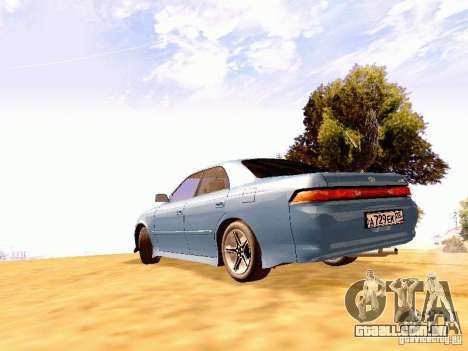 Toyota Mark II JZX90 para GTA San Andreas esquerda vista