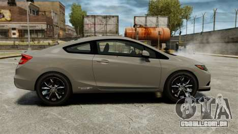 Honda Civic Si Coupe 2012 para GTA 4 esquerda vista