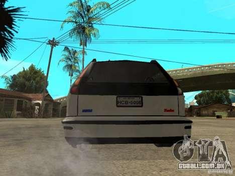 Fiat Marea Weekend para GTA San Andreas traseira esquerda vista