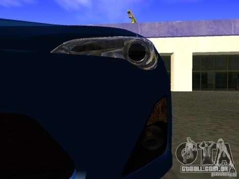 Toyota GT86 Limited para GTA San Andreas vista superior