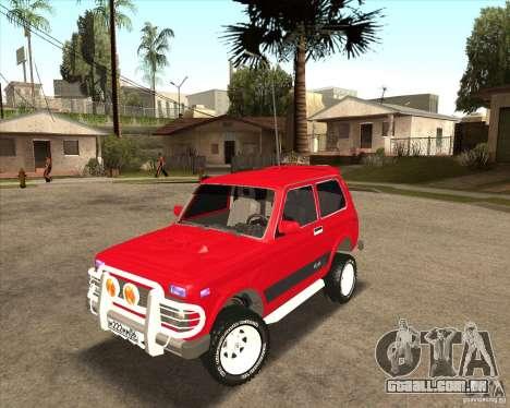 VAZ 21213 4 x 4 para GTA San Andreas vista superior