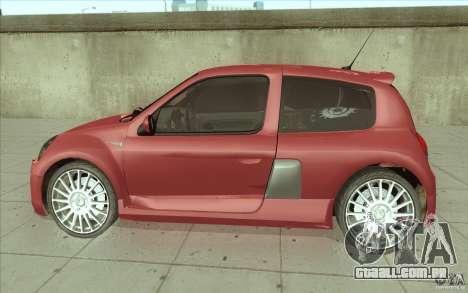 Renault Clio V6 para GTA San Andreas esquerda vista