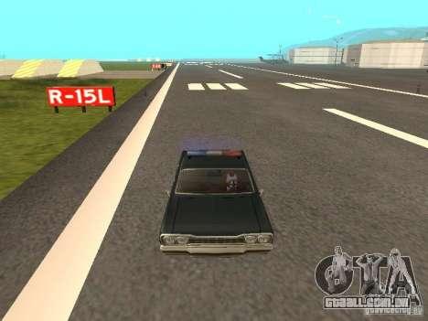 Police Savanna para GTA San Andreas vista direita