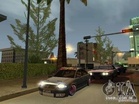 VW Passat B5 Dope para GTA San Andreas vista traseira