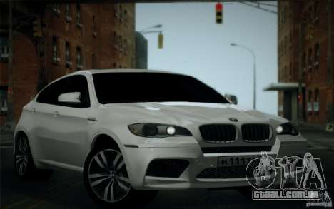 BMW X6M E71 para vista lateral GTA San Andreas