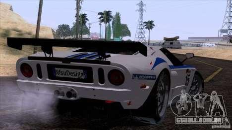 Ford GT Matech GT3 Series para GTA San Andreas traseira esquerda vista