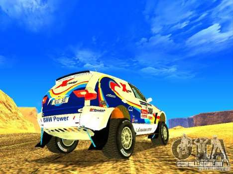 BMW X3 King Dessert para vista lateral GTA San Andreas