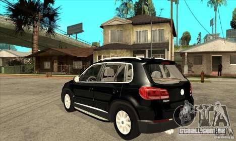 Volkswagen Tiguan 2.0 TDI 2012 para GTA San Andreas traseira esquerda vista