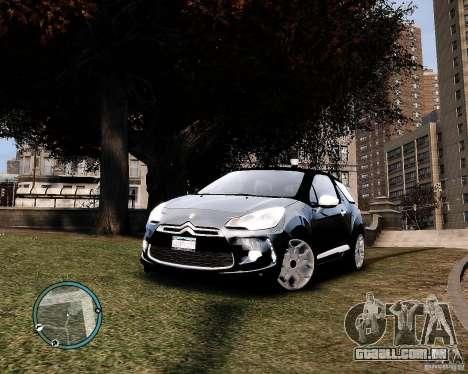Citroen DS3 2011 para GTA 4 traseira esquerda vista