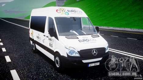 Mercedes-Benz Sprinter Euro 2012 para GTA 4 vista de volta